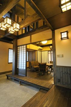 Japanese Design Commonly identified by wooden frameworks, the form of a phase bu. - Japanese Design Commonly identified by wooden frameworks, the form of a phase building, with a cera - Modern Japanese Architecture, Japanese Buildings, Japanese Interior Design, Asian Interior, Japanese Design, Sustainable Architecture, Interior Architecture, Pavilion Architecture, Japanese Door