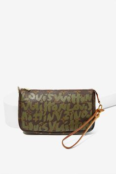 fde4e8acb5d6 Vintage Louis Vuitton Monogram Sprouse Olive Pochette Louis Vuitton  Accessories