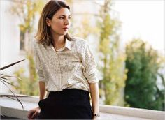 Photographer : Andrew Durham for The New York Times I think of all girl/style crushes I've ever had, Sofia Coppola is the most enduring . Sofia Coppola Style, Simple Style, Style Me, Signature Look, Girl Inspiration, Celebs, Celebrities, Girl Crushes, Style Icons