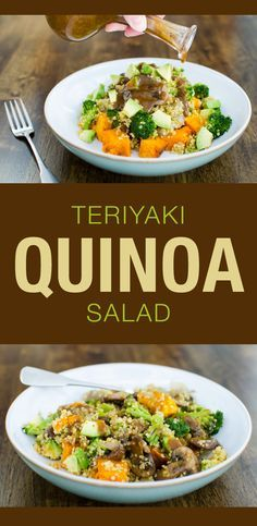 Warm Teriyaki Quinoa Salad - a delicious vegan and gluten free recipe   VeggiePrimer.com