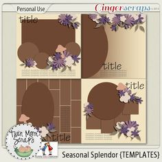 GS Buffet SALE - Seasonal Splendor by TwinMomScraps! TwinMomScraps has some beautiful coordinating packs for the Buffet Sale exclusively at GingerScraps! Seasonal Splendor TEMPLATES; http://store.gingerscraps.net/Seasonal-Splendor-TEMPLATES.html. 01/10/2013