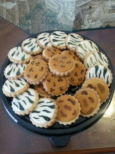 Animal print cookies from candy's cupcakes