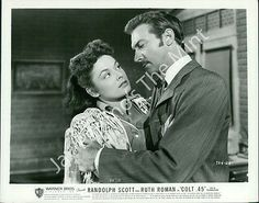 AAX-219 Photo RUTH ROMAN, ZACHARY SCOTT Scene from Colt .45 1950
