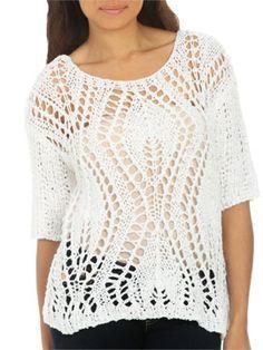 Tapeyarn Crochet Sweater | Shop CLEARANCE at Arden B