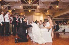 Caught! #gartertoss #groom