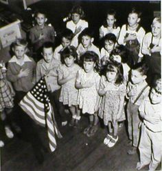 We said the Pledge of Allegiance every morning...