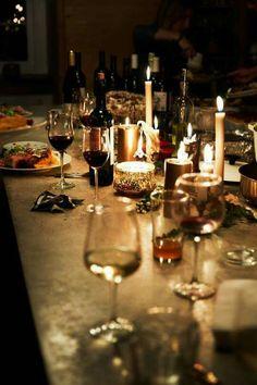 Candlelight Dinner mit Freunden | repinned by @hosenschnecke♡