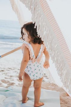 This one piece swimsuit is perfect for your baby or toddler girl. Comes in size 6 months, 12 months, and Mommy And Me Swimwear, Baby Swimwear, Baby Swimsuit, Little Girl Fashion, Kids Fashion, Modern Baby Clothes, Toddler Swimsuits, Little Doll, Toddler Girl