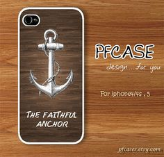 The faithful anchor on the great wood pattern  Handmade by pfcases, $15.89