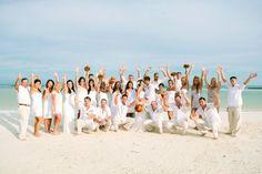 All white beach wedding. Beach Wedding Guest Attire, Beach Wedding Guests, Jamaica Wedding, Pre Wedding Party, Wedding Pictures, Destination Wedding, Wedding App, Wedding Destinations, Beach Attire