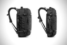 A stylish carry-on backpack that eliminates the need to check-in bags at the airport.