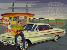 route 66 vintage scene
