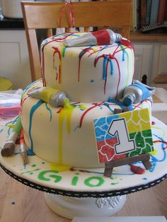 Paint Splatter Cake by sugarcrushmiami, via Flickr