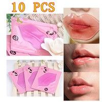 Special offer 10pcs Sexy Collagen Crystal Lip Care Mask Anti-Ageing Membrane Moisture Essence BY311