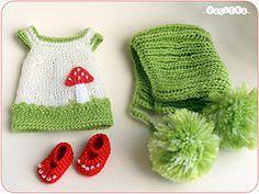 mushroom set (_vasilka_) Tags: doll dress handmade crochet knit clothes bjd jaime latiyellow pukifee