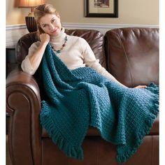 Mary Maxim - Free Simple Throw Crochet Pattern///uses Mary Maxim Bulky Weight yarn 13 skeins (TITAN)