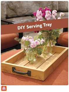 Add versatility to your outdoor living space with a handcrafted wooden tray.