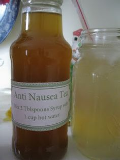 """Ginger Syrup - this can make not only traditional Ginger Ale, but can be made into a Ginger """"Tea"""" to help with nausea. Would make a great gift for someone suffering from morning sickness, Chemo treatments, or even the stomach flu! Remedies For Nausea, Herbal Remedies, Health Remedies, Home Remedies, Natural Remedies, Ginger Ale, Ginger Syrup, Ginger Soda, Natural Medicine"""