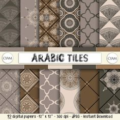 Hey, I found this really awesome Etsy listing at https://www.etsy.com/listing/190172251/sale-arabic-tile-scrapbook-digital-paper