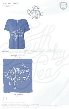 Alpha Omicron Pi   AOII   Script T-Shirt Design   Panhellenic Recruitment…