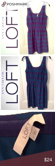 NWOT LOFT striped dress Size small. New without tag, only slight imperfection is where tag has come loose on one side. Adorable . Skirt is lined  LOFT Dresses