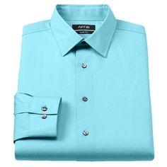 Apt. 9 Slim-Fit Stretch Solid Dress Shirt - Big and Tall