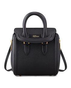Heroine Mini Satchel Bag, Black by Alexander McQueen at Neiman Marcus.