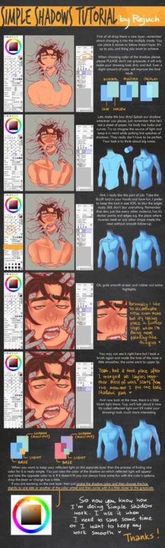 Simple Shadows Tutorial by Rejuch on @DeviantArt