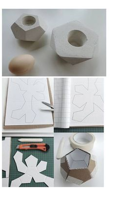 Home Decorating Ideas For Cheap Gipsgießform aus altem Karton / Mould for cement art made of old cardboard / Up. Home Design Ideas: Home Decorating Ideas For Cheap Home Decorating Ideas For Cheap Gipsgießform aus altem Karton / Mou Cement Art, Concrete Art, Concrete Molds, Concrete Planters, Concrete Crafts, Concrete Projects, Diy Projects To Try, Craft Projects, Diy And Crafts