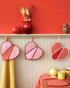 Heart-Shaped Pot Holders | Martha Stewart