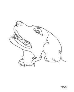 Dog Line Drawing, Dog Line Art, Custom Dog Portraits, Pet Portraits, Dog Lover Gifts, Dog Gifts, Photography Logo Design, Dog Illustration, Art Drawings