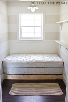 Totally going to do this. We have a queen mattress and boxspring we're not using. Put it in our walk in closet with a down blanket and throw pillows. Put up some shelves to hold all my books and I will have a comfy reading room!!!