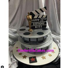 K Hollywood Cake, Themed Cakes, Birthday Cake, Happy, Desserts, Movie, Food, Theme Cakes, Tailgate Desserts