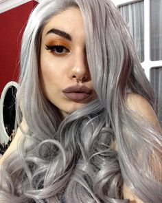 Look at this beautyour sweet love @seydaerdogan is so obsessed with this Grey Water Weave Glueless wig.How do you think it girls?wig sku:edw1098 Use Coupon Code:EM2016 get 20% Off on your order.http://ift.tt/2fKx3ZX #beauty#frontlacewig#wavywig#beauty#frontlacewigs#syntheticwigs#synthetic#bigsale
