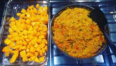 Been a while.. Let's cook!  Roasted butternut squash and spicy lentils -  Vegtastic!