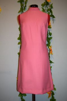 fabulous vintage 60s pink dress and coat by wendy mod christmas by jampops on Etsy