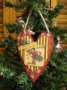 Heart Christmas Ornament Holiday Decor от BlueRidgeMercantile