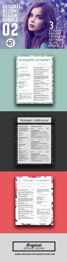 Beautifully designed resume templates bundle 02