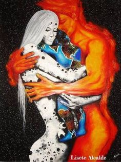 We are twin souls separated by a sea of soil~Tyler Knott Gregson     www.twinflames-soulmates.com  Art: LISETE ALCALDE