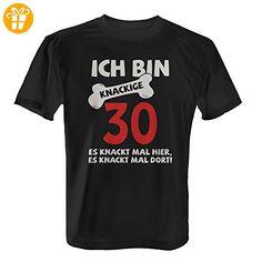 Ich bin knackige 30 - Es knackt mal hier, es knackt mal dort! - Herren T-Shirt von Fashionalarm | Geschenk zum 30. Geburtstag Jubiläum, Farbe:schwarz;Größe:XL (*Partner-Link)