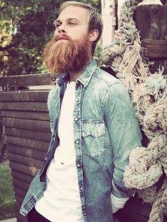 "beardsandmustachescrew: "" Just a beard chillin. It looks fuckin awesome! www.beardsandmustachescrew.tumblr.com """