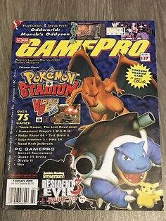 Gaming Magazines, Video Game Magazines, I Love Games, All Games, Resident Evil Nemesis, Pokemon Stadium, Color Games, Retro Video Games, I Am Game