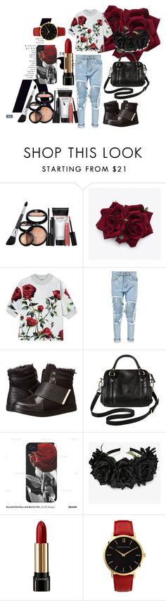 """""""Roses"""" by dahnya-1 ❤ liked on Polyvore featuring KAROLINA, Laura Geller, Dolce&Gabbana, Boohoo, Call it SPRING, Merona, Case-Mate, Lancôme and Larsson & Jennings"""