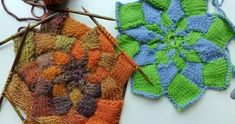 How to Knit * Half Entrelac Patches for Star or Hat