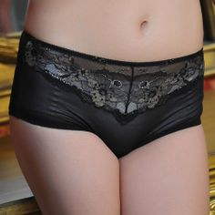 Sweet female 100% cotton sexy lace bamboo fibre antibiotic physiological panties breathable trigonometric butt-lifting