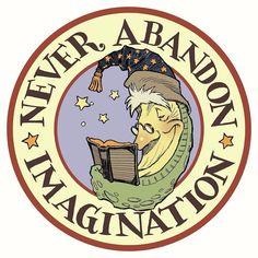 New Year's resolution #1: update my logo and design new letterhead. #neverabandonimagination by diterlizzi
