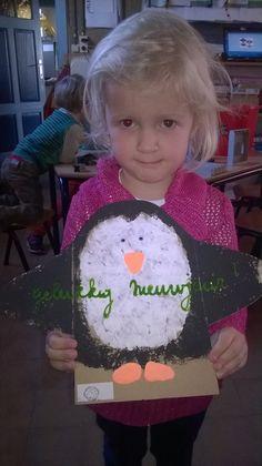 Nieuwjaarsbrief pinguin open