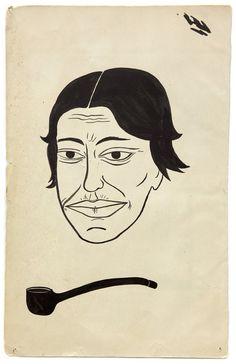 Margaret Kilgallen  Untitled, c. 2000  Ink on paper  9.75 x 6 inches