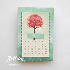 Created with Days To Remember & Beauty of Frienship stamps and Inspiring Canopy Dies. See tutorial on my blog. Make Your Own Card, How To Make Diy, Calendar Pages, Desktop Calendars, Calendar Ideas, Fancy Fold Cards, Folded Cards, Chalk Markers, Friends Are Like