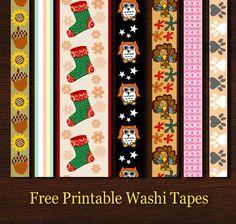 Free Printable Washi Tapes